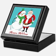 Santa Snowman Photo Keepsake Box