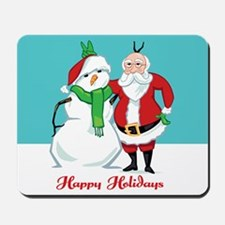 Santa Snowman Photo Mousepad