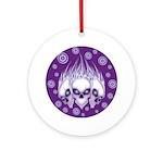 Blazing Purple Skulls Ornament (Round)