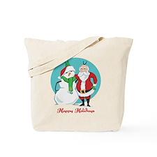 Santa Snowman Photo Tote Bag