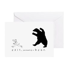 Exit, Pursued By A Bear - Greeting Card