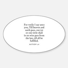 MATTHEW 5:18 Oval Decal