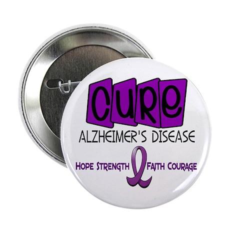 """CURE Alzheimer's Disease 1 2.25"""" Button"""