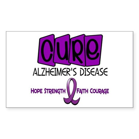 CURE Alzheimer's Disease 1 Rectangle Sticker