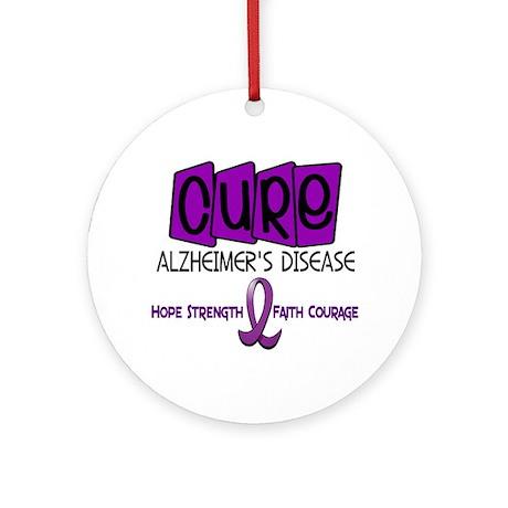 CURE Alzheimer's Disease 1 Ornament (Round)