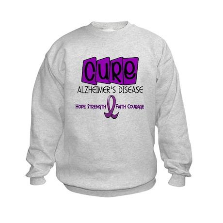 CURE Alzheimer's Disease 1 Kids Sweatshirt