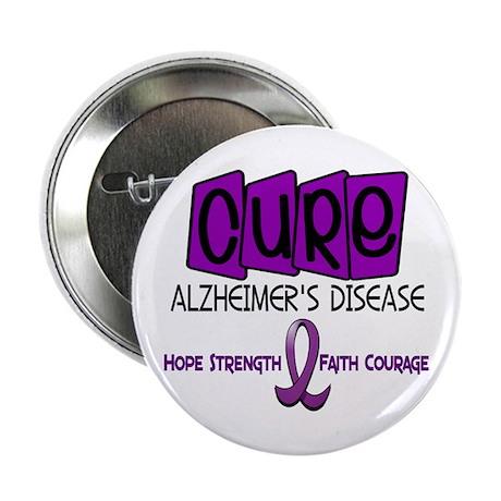 "CURE Alzheimer's Disease 1 2.25"" Button (100 pack)"