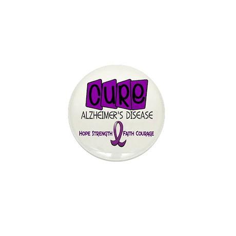 CURE Alzheimer's Disease 1 Mini Button (100 pack)