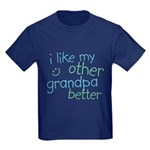 I Like My Other Grandpa Better Kids Dark T-Shirt