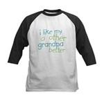 I Like My Other Grandpa Better Kids Baseball Jerse