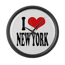 I * New York Large Wall Clock
