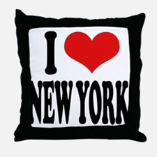 I * New York Throw Pillow