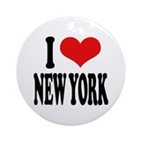 New york city Round Ornaments