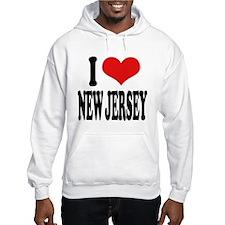 I Love New Jersey Hooded Sweatshirt
