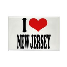 I Love New Jersey Rectangle Magnet