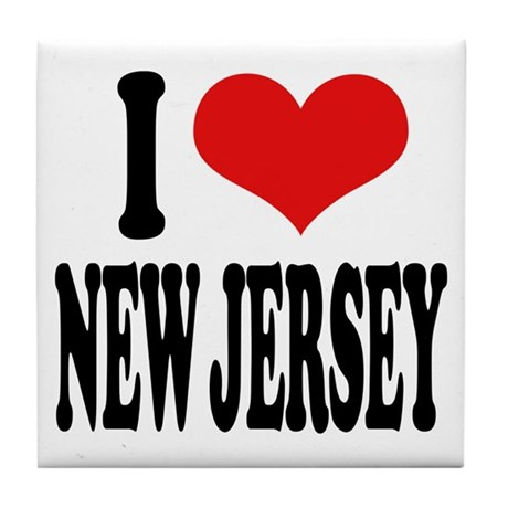 I Love New Jersey Tile Coaster
