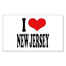 I Love New Jersey Rectangle Sticker