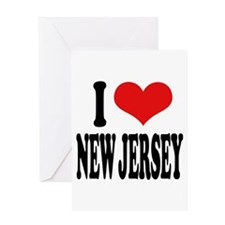 I Love New Jersey Greeting Card
