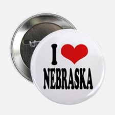 "I Love Nebraska 2.25"" Button"