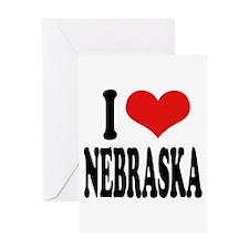I Love Nebraska Greeting Card