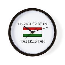I'd rather be in Tajikistan Wall Clock