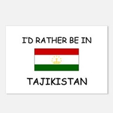 I'd rather be in Tajikistan Postcards (Package of
