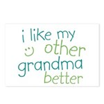 I Like My Other Grandma Better Postcards (Package