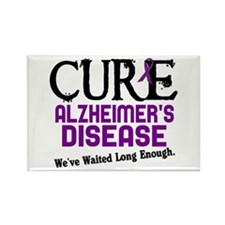 CURE Alzheimer's Disease 3 Rectangle Magnet