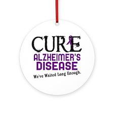 CURE Alzheimer's Disease 3 Ornament (Round)