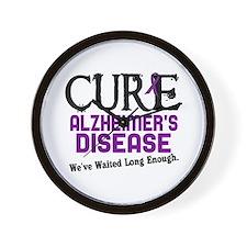 CURE Alzheimer's Disease 3 Wall Clock