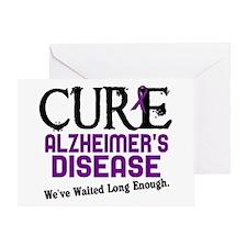CURE Alzheimer's Disease 3 Greeting Card
