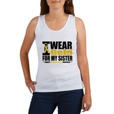 I Wear Gold For My Sister Women's Tank Top