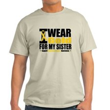 I Wear Gold For My Sister T-Shirt