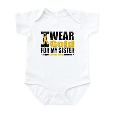 I Wear Gold For My Sister Infant Bodysuit