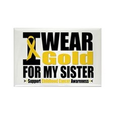 I Wear Gold For My Sister Rectangle Magnet