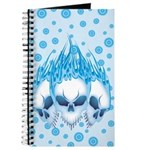 Blazing Blue Skulls Journal