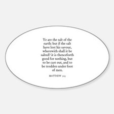 MATTHEW 5:13 Oval Decal
