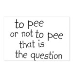 To Pee or Not To Pee Postcards (Package of 8)