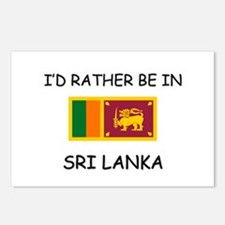 I'd rather be in Sri Lanka Postcards (Package of 8