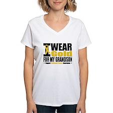 I Wear Gold For My Grandson Shirt
