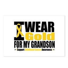 I Wear Gold For My Grandson Postcards (Package of