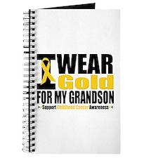 I Wear Gold For My Grandson Journal