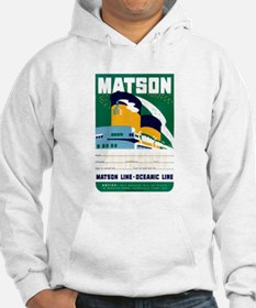 Matson Lines Luggage Label Hoodie