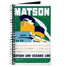 Matson Lines Luggage Label Journal