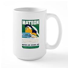 Matson Lines Luggage Label Mug