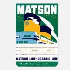 Matson Lines Luggage Label Postcards (Package of 8
