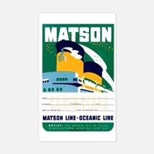 Matson Lines Luggage Label Rectangle Decal