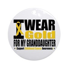 I Wear Gold Granddaughter Ornament (Round)