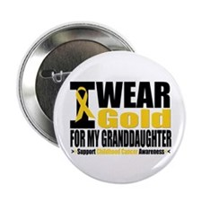 "I Wear Gold Granddaughter 2.25"" Button"