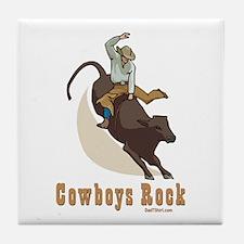 Cowboys Rock Sports Tile Coaster